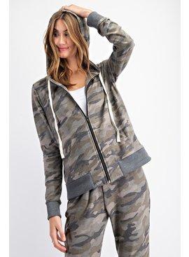 Rae Mode Camo Printed Hoodie Jacket