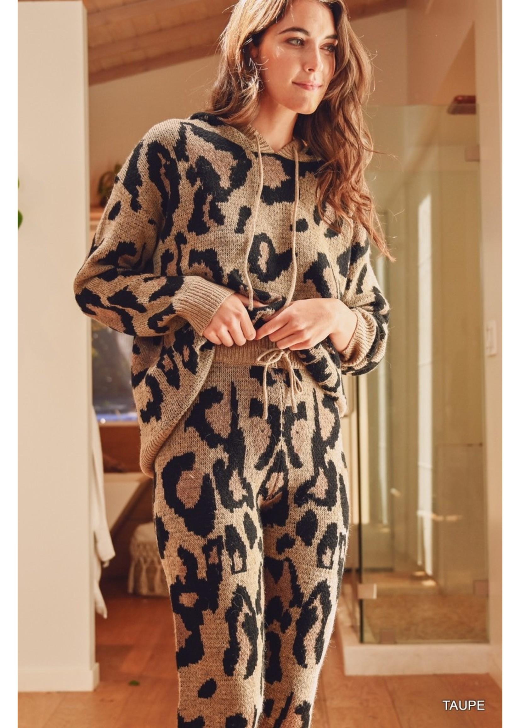 Jodifl Leopard Print Knit Lounge Pants