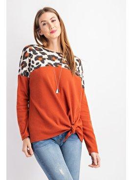 Rae Mode Animal Printed Knit Top