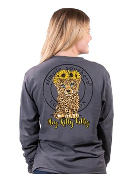 Simply Southern Collection Simply Southern Hey Kitty Kitty  L/S T-Shirt