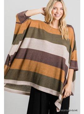 Jodifl Striped Poncho Top