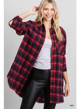 Jodifl Button-Up Flannel Shirt