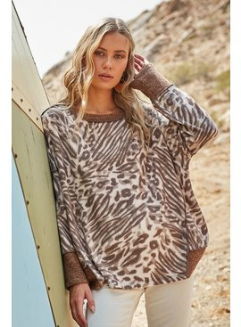 Animal Print Relaxed Fit Top