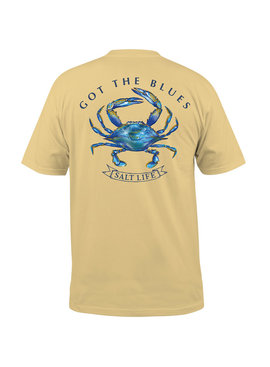 Salt Life Got The Blues Short Sleeve Pocket Tee