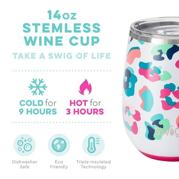 Swig Life Swig 14oz Stemless Wine Cup-Party Animal