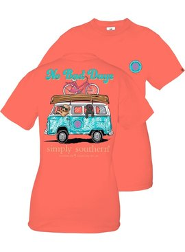 Simply Southern Collection YOUTH No Bad Days Short Sleeve T-Shirt -  Sockeye