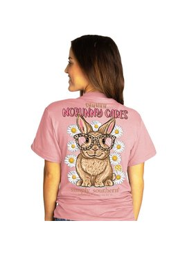 Simply Southern Collection NoBunny  Cares Short Sleeve T-shirt - Crepe