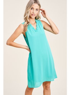 Staccato Solid Shift Dress