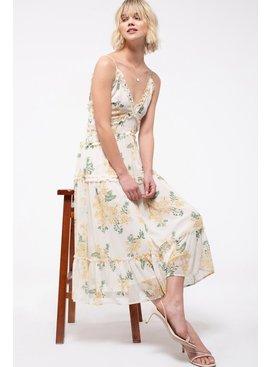 Floral Tiered Midi-Dress