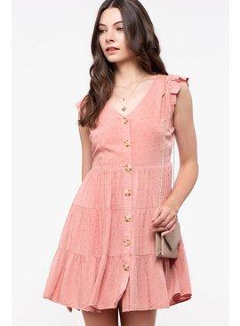 Swiss-Dot Tiered Dress