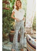 Jodifl Leopard Print High Waist Flared Leggings