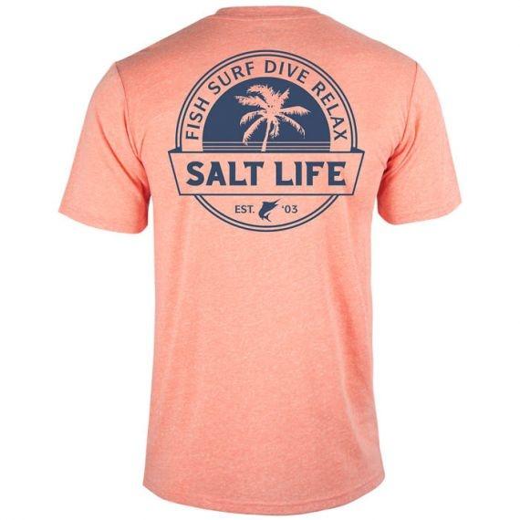 Salt Life Fish Surf Dive Relax Tri-Blend Fishing Tee