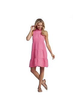 Mud Pie Nat Bow Tie Pink Dress