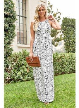 Leopard Spandex Maxi Dress