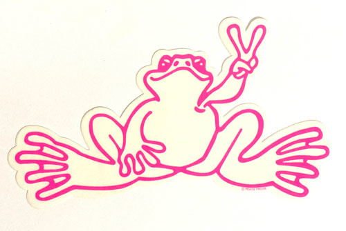 Peace Frogs, Inc Sm Hot Pink Frog Outline Sticker