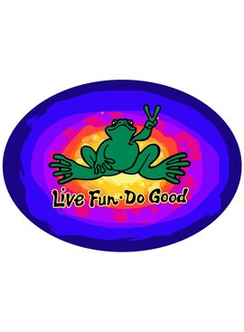 Peace Frogs, Inc Live Fun, Do Good Frog Sticker