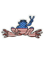 Peace Frogs, Inc Peace Frogs American  Frog Sticker