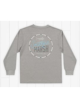 Southern Marsh Youth FieldTec™ Heathered Tee - Marlin Time - Long Sleeve