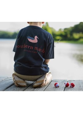 Southern Marsh Youth Authentic Flag Tee