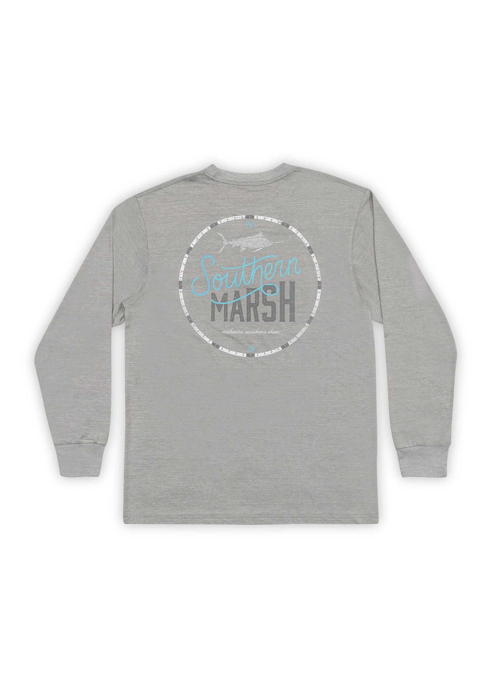 Southern Marsh FieldTec™ Heathered Tee - Marlin Time - Long Sleeve