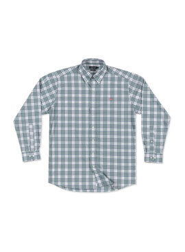 Southern Marsh Bluefish Performance Plaid Dress Shirt