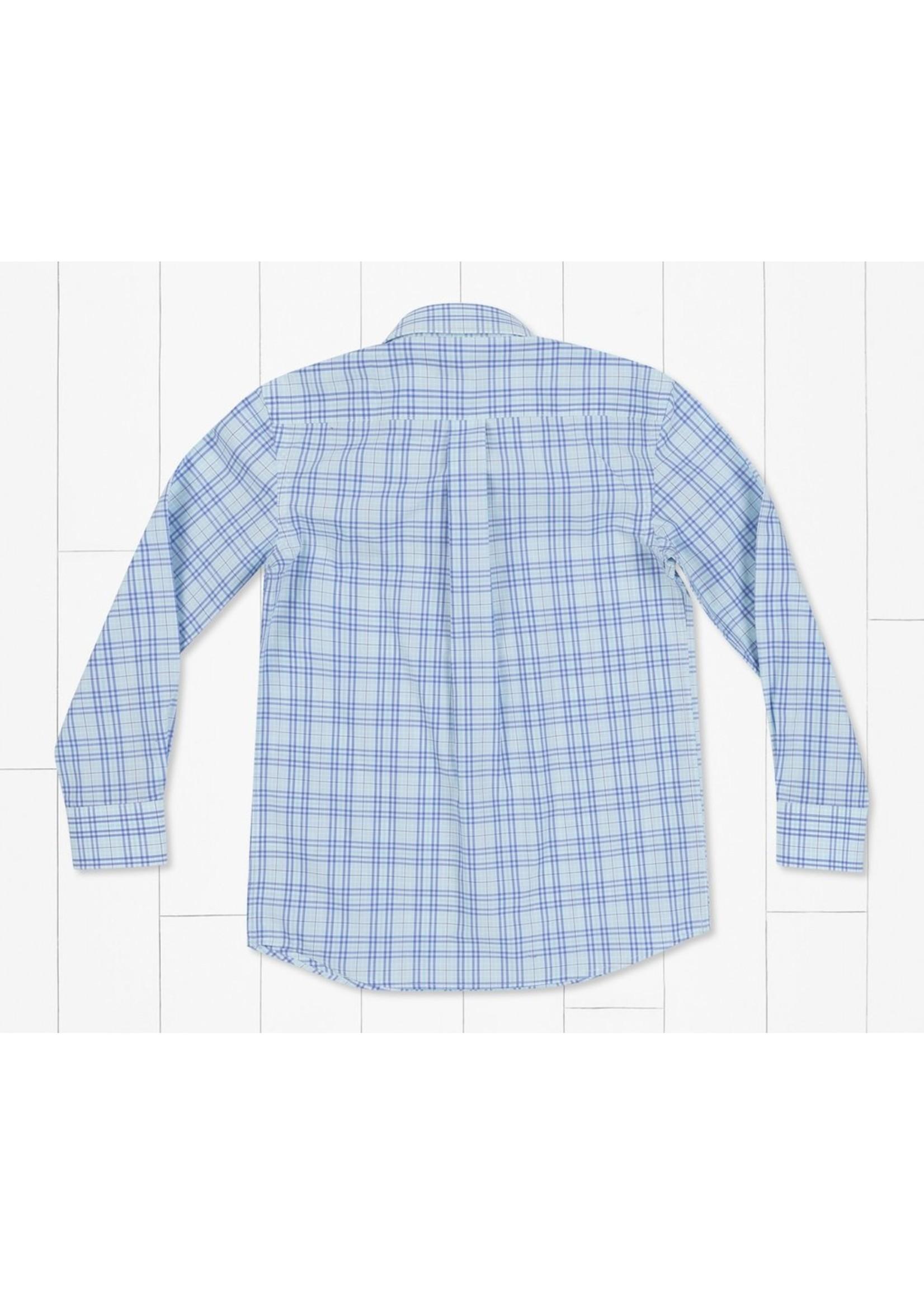 Southern Marsh Youth Charlotte Windowpane Dress Shirt