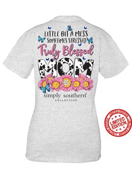 Simply Southern Collection Simply Southern  Truley Blessed Mom-Ash