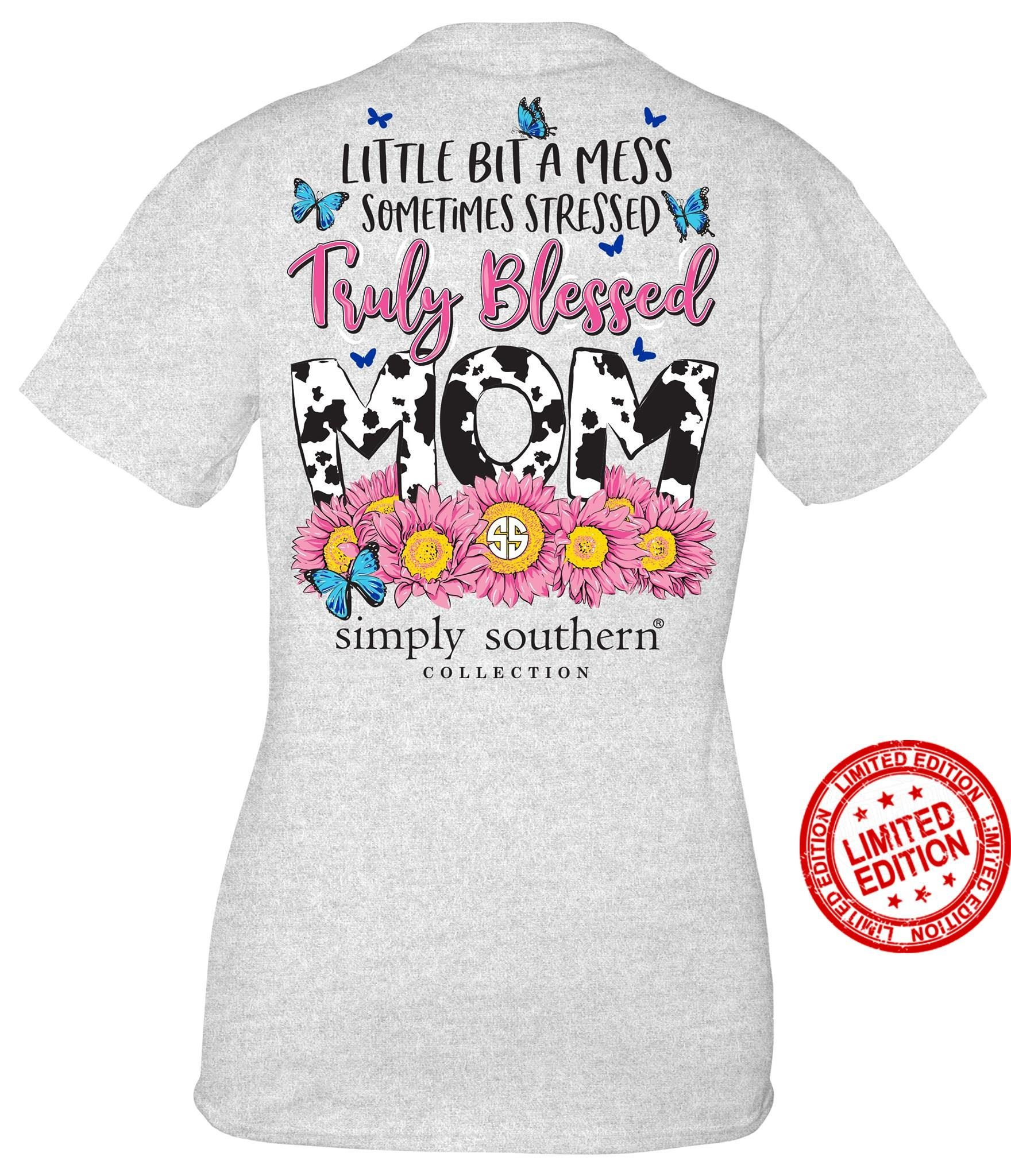 Simply Southern Collection Simply Southern  Truely  Blessed Mom-Ash