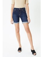 KanCan Mid Rise Hem Detail Shorts