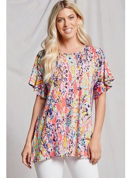 Beeson River Floral Ruffle Top