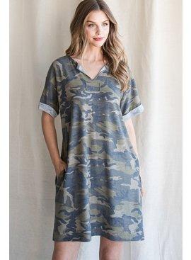 Jodifl Camouflage Dress with Pockets