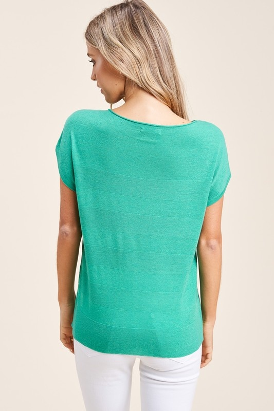 Staccato Short Sleeve Sweater