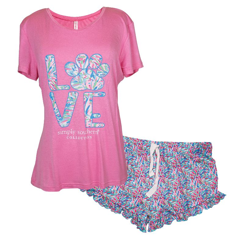 Simply Southern Collection Simply Southern PJ Short Set