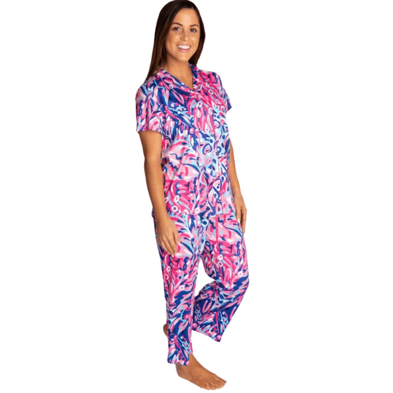Simply Southern Collection Simply Southern Button Up PJ Set