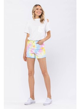 JUDY BLUE Sally Swirl Tie-Dye Shorts