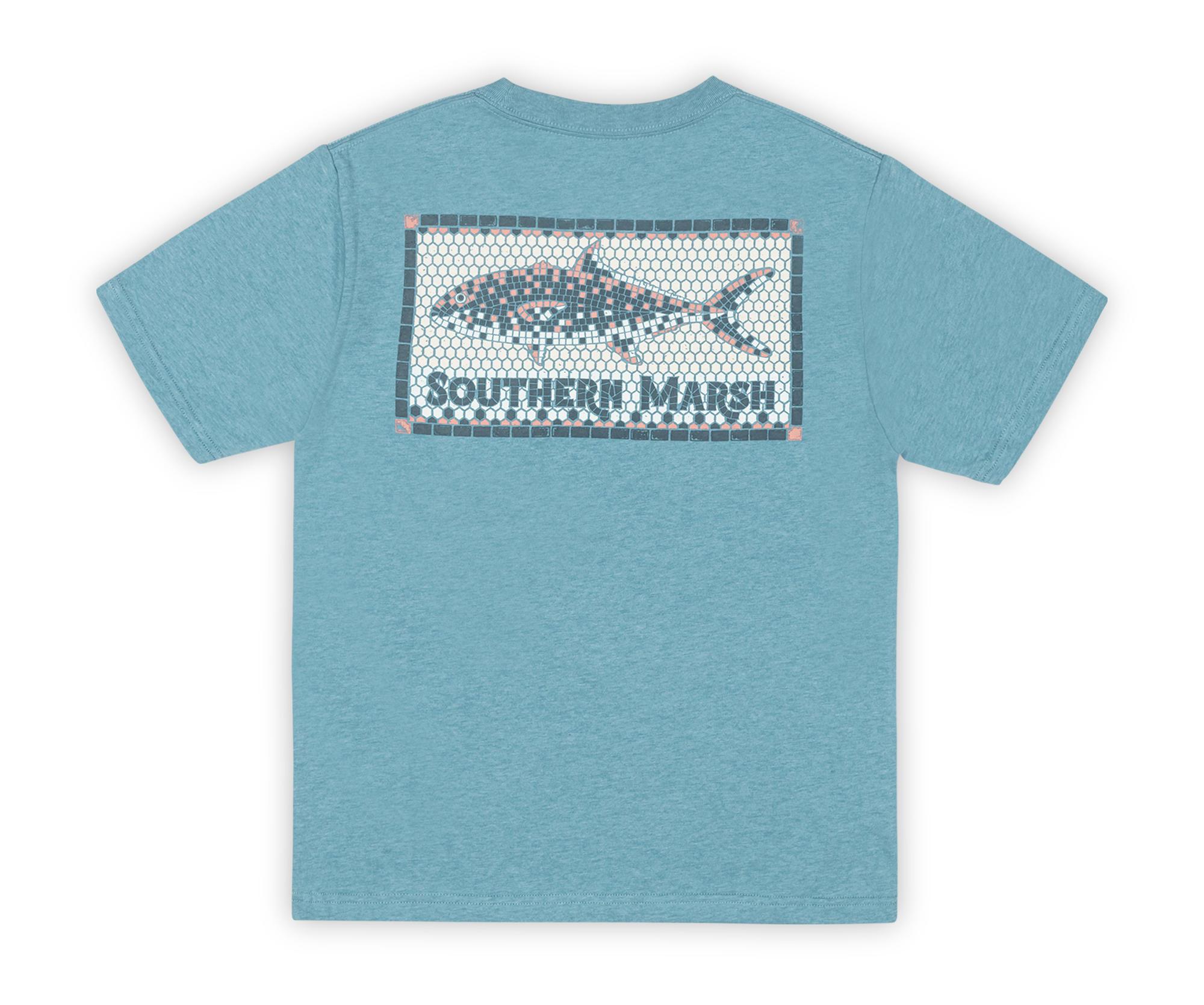 Southern Marsh Youth Tile Fish Tee