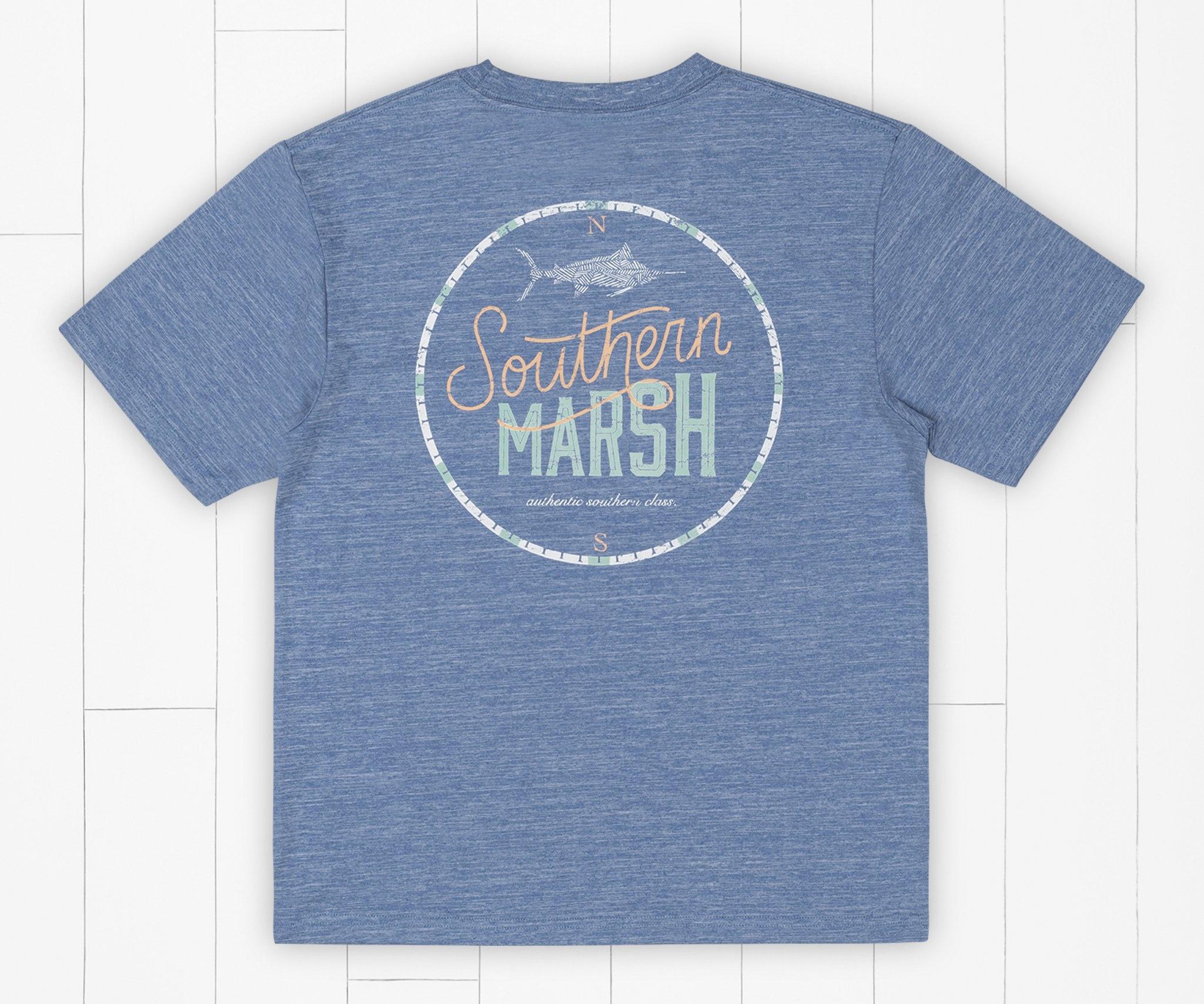 Southern Marsh Youth FieldTec™ Heathered Tee - Marlin Time