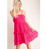 Glam Ruffled Babydoll Cami Dress