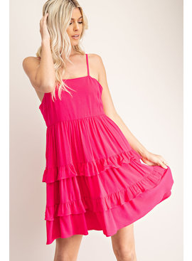 Glam Ruffled Babydoll Cami Dress