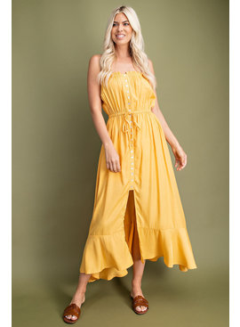 Glam Ruffle Tube Maxi Dress
