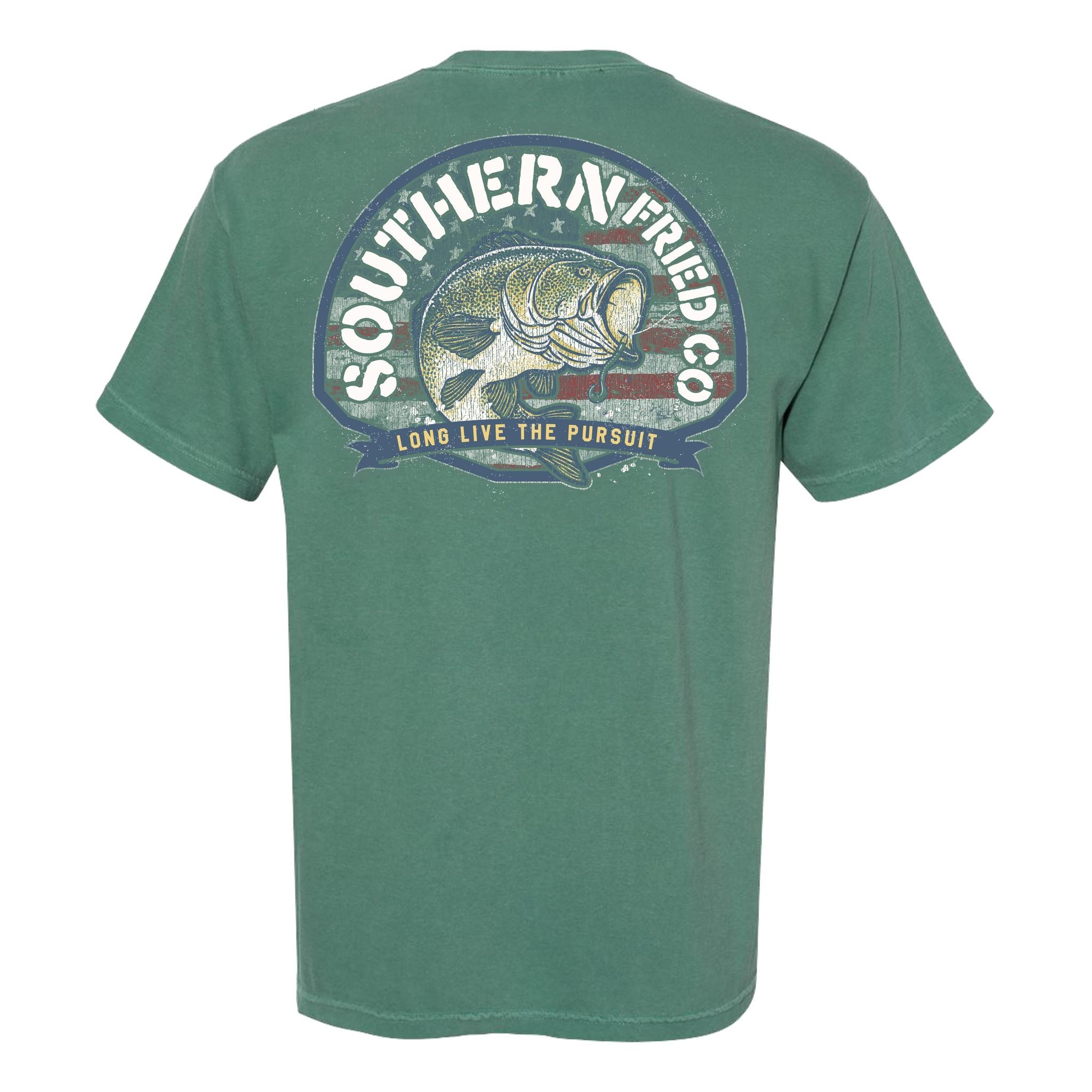 Southern Fried Cotton  American Bass SS Tee - Light Green