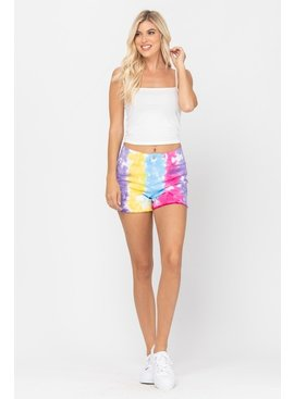 JUDY BLUE Brooke Snow Cone Tie Dye Shorts - PLUS