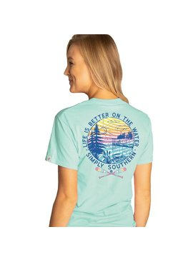 Simply Southern Collection Life is Better on the Water Short Sleeve T-Shirt