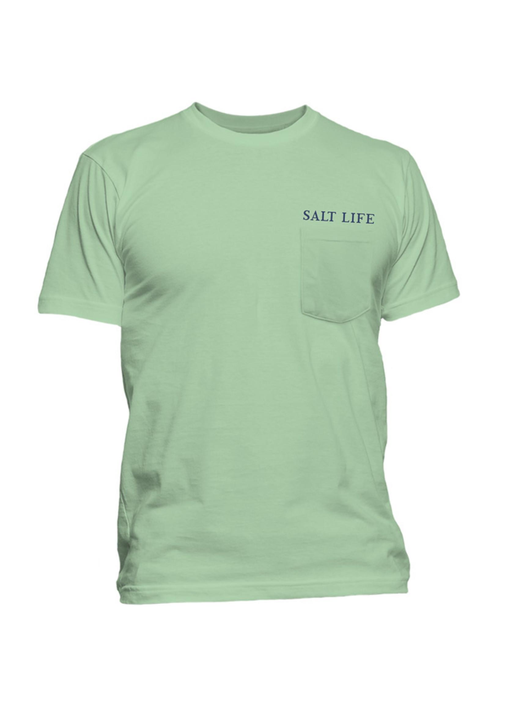 Salt Life Got The Blues Short Sleeve Pocket Tee