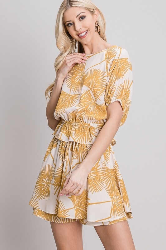 Allie Rose By Ember Tropical Print Blouse