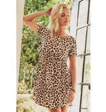 Jodifl Leopard Print Baby Doll Dress