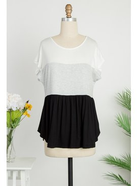 Be Stage Color Blocked Babydoll Top