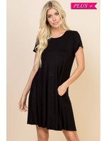 Be Stage Solid Crossed Back Dress with Pockets