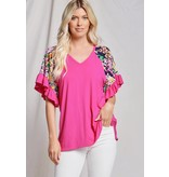 Beeson River Floral Bell Sleeve Top
