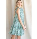 Jodifl Print Ruffle Tiered Dress
